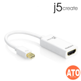 J5 JDA159Mini DisplayPort to 4K HDMI Adapter