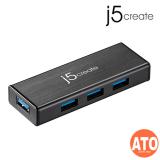 J5 JUH340-IO USB 3.0 4-Port Mini Hub W/O AC Power Adapter