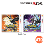 Pokemon Ultra Moon & Ultra Sun Double Pack for Nintendo 3DS (MDE)