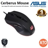 Asus Cerberus Mouse Ambidextrous optical gaming mouse with four-stage DPI switch and convenient LED indicator