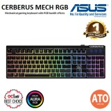 Asus Cerberus Mech RGB mechanical gaming keyboard with RGB backlit effects, 100% anti-ghosting N-key rollover (NKRO), and dedicated hot keys for gaming shortcuts