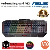 Asus Cerberus Keyboard MKII Multi-color backlit gaming keyboard with splash-proof design