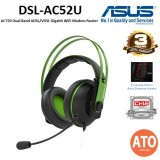 Asus Cerberus V2 Green gaming headset with 53mm Asus Essence drivers, stainless-steel headband, and wrap-around ear cushions
