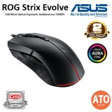 Asus ROG Strix Evolve Optical gaming mouse with Aura Sync RGB lighting that features changeable top covers to enable four different ergonomic styles