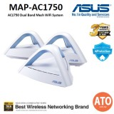 ASUS (MAP-AC1750) LYRA TRIO AC1750 Dual Band Mesh WiFi System – Covers Multi-Story Homes up to 5400 sq. ft., with AiProtection network security powered by Trend Micro, Parental Controls