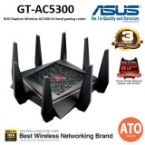 Asus ROG Rapture GT-AC5300 Tri-band WiFi Gaming router for VR and 4K streaming, with quad-core processor, gaming port, AiMesh for mesh WiFi system, WTFast, Adaptive QoS, and AiProtection network security