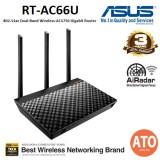 ASUS (RT-AC66U) 802.11ac Dual-Band Wireless-AC1750 Gigabit Router