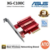 ASUS XG-C100C 10GBase-T PCIe Network Adapter with backward compatibility of 5/2.5/1G and 100Mbps ; RJ45 port and built-in QoS