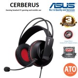 ASUS Cerberus Gaming headset with large 60mm neodymium drivers, designed for both PC gaming and mobile use