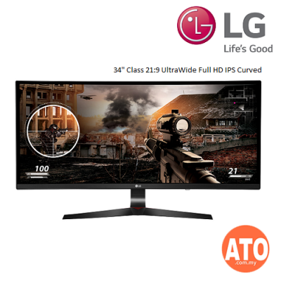 "LG 34UC79G 34"" 144Hz UltraWide® Full HD IPS Curved Gaming Monitor"