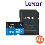 Lexar 16GB 633X Micro SDHC / Micro SDXC UHS-I w/Adapter RW up to 95/45 MB/s