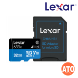 Lexar 633X Micro SDHC / Micro SDXC UHS-I w/Adapter RW up to 95/45 MB/s (32GB)