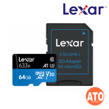 Lexar 633X Micro SDHC / Micro SDXC UHS-I w/Adapter RW up to 95/45 MB/s (64GB)