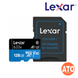 Lexar 633X Micro SDHC / Micro SDXC UHS-I w/Adapter RW up to 95/45 MB/s (Support Nintendo Switch) 128GB
