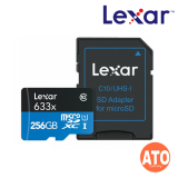 Lexar 633X Micro SDHC / Micro SDXC UHS-I w/Adapter RW up to 95/45 MB/s (256GB)