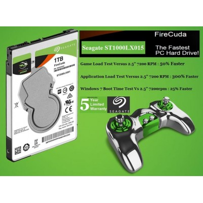 "Seagate Firecuda 2.5"" Hardrive (1TB 