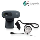 Logitech C270 HD Webcam + Mono Headset
