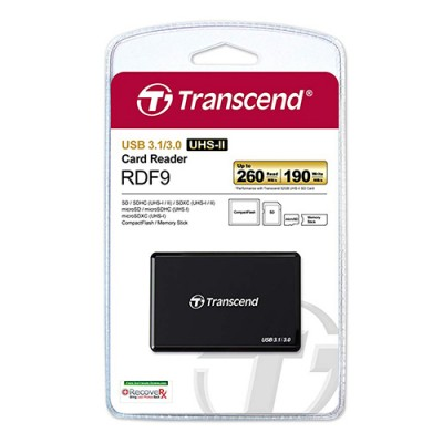 Transcend RDF9K All-in-One UHS-II Multi Card Reader USB 3.0 / 3.1