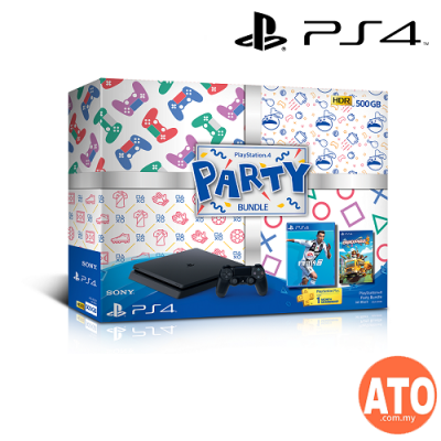 Playstation 4 (PS4) Slim 500GB PARTY Bundle (Asia Set)