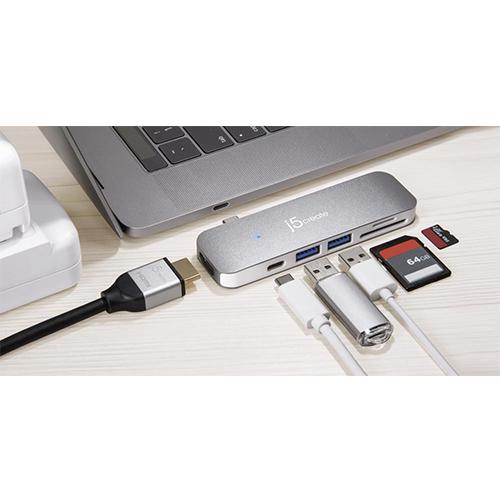 J5 CREATE JCD386 USB Type-C 7-in-1 Ultra Drive Dock