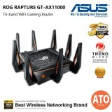 Asus GT-AX1100 Tri-Band WiFi Gaming Router - World's First 10 Gigabit Wi-Fi Router with Quad-Core Processor, 2.5G Gaming Port, DFS Band, WTFast, Adaptive QoS, AiMesh for Mesh WiFi System and AiProtection Network Security