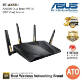 Asus (RT-AX88U) AX6000 Dual Band WiFi 6 (802.11ax) Router supporting MU-MIMO and OFDMA technology, with AiProtection Pro network security powered by Trend Micro™, built-in wtfast® game accelerator and Adaptive QoS