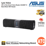 All-In-One Smart Voice Router – AC2200 Tri-Band Mesh WiFi Router and Bluetooth speaker with AiMesh support and Amazon Alexa Built-in, AiProtection Pro network security powered by Trend Micro, Two 8W Stereo Speakers