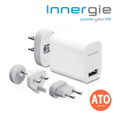 INNERGIE PowerTravel Kit 10W USB Wall Adapter with Interchangeable Plugs