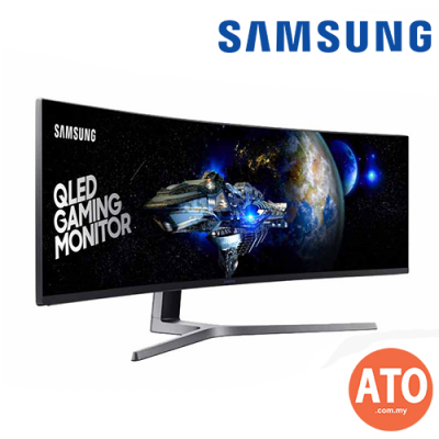 "SAMSUNG 49"" QLED Gaming Monitor CHG90 with Super Ultra-Wide Screen"