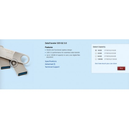 KINGSTON DT SE9 GEN 2 USB3.0 (64GB)