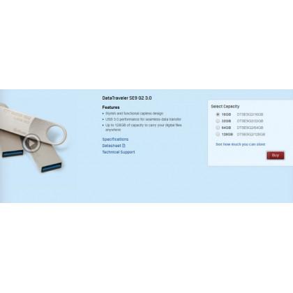 KINGSTON DT SE9 GEN 2 USB3.0 (128GB)