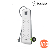 Belkin 6-Outlet Surge Protection Strip With 2 2.4A USB Charging Ports