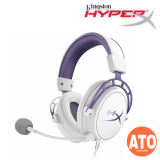 HyperX Cloud Alpha Purple Gaming Headset Limited Edition White/Purple