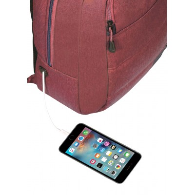 "Targus 15"" Groove X Compact Backpack for MacBook (Burgundy)"
