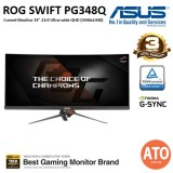 "ASUS ROG Swift Curved PG348Q Gaming Monitor - 34"" 21:9 Ultra-wide QHD (3440x1440), overclockable 100Hz , G-SYNC"