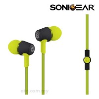 SonicGear Airplug 100 Neo Earphone (Green | Cyan | Festive Red | Magenta | Orange)