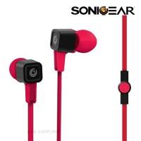 SonicGear Airplug 300 Neo Earphone (Green | Cyan | Festive Red | Magenta | Orange)