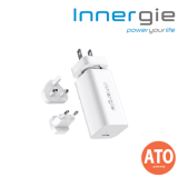 INNERGIE 65U Laptop Adapter (International) 65W - Ultra Compact - Travel Plugs