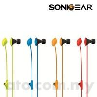 SonicGear Neo Plug Leaf Earphone (Blue | Green | Orange | Red)