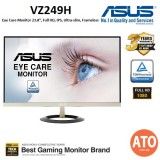ASUS VZ249H Eye Care Monitor - 23.8 inch, Full HD, IPS, Ultra-slim, Frameless, Flicker Free, Blue Light Filter