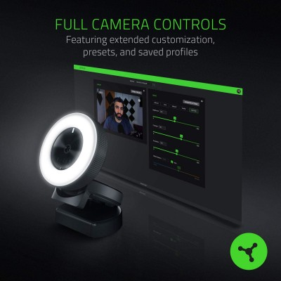 Razer Kiyo Streaming Webcam (High fps HD Video 720p 60fps, Multi- step ring light)