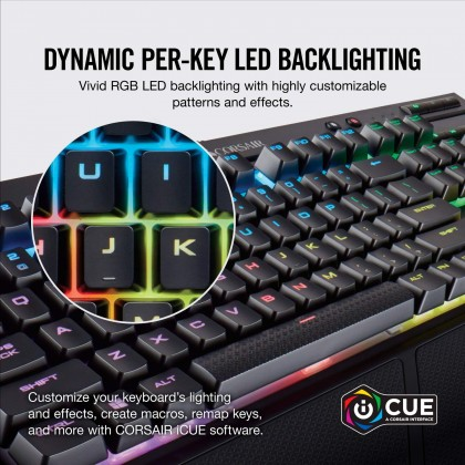 CORSAIR K68  RGB Mechanical Gaming Keyboard - CHERRY MX Red