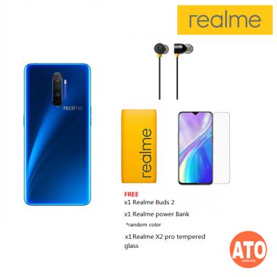 Realme X2 PRO 12GB + 256GB FREE Realme Buds 2 + Realme X2 Pro Anti Shock Temperglass & Realme 10000mah Power Bank (1 Year Realme Malaysia Warranty)