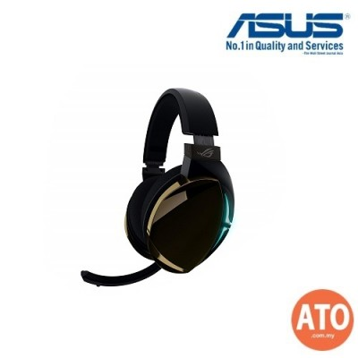 Asus ROG Strix Fusion 500 gaming headset with headset-to-headset RGB light synchronization via mobile app control, hi-fi-grade ESS DAC and amplifier, and 7.1 virtual surround