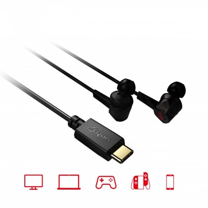 Asus ROG Cetra in-ear Gaming Headphones with Active Noise Cancellation (ANC), 10mm ASUS Essence drivers and USB-C connector for PC, PS4, mobile and Nintendo Switch