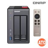 "QNAP TS-251+-2G 2-bay NAS, Intel Celeron 2.0GHz Quad Core (up to 2.42GHz), 2GB DDR3L Max 8 GB (2 x 4GB), 2.5''/3.5"" SATA  6Gbps, 3Gb/s (2 x Gigabit Lan, 2 x USB 3.0, 2 x USB 3.0, External, 60W) 1, up to 1080"