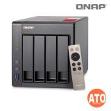 "QNAP TS-451+-2G 4-bay NAS, Intel Celeron 2.0GHz Quad Core (up to 2.42GHz), 2 GB SO-DIMM DDR3L Max 8 GB (2 x 4GB), 2.5''&3.5"" SATA  6Gb/s, 3Gb/s, (2 x Gigabit Lan, 2 x USB 3.0, 2 x USB 2.0 External, 90W) 1, (up to1080p)"