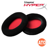 HyperX Cloud Velour Ear Cushions (Black/Red) for Cloud, CloudX, and Cloud II Headset