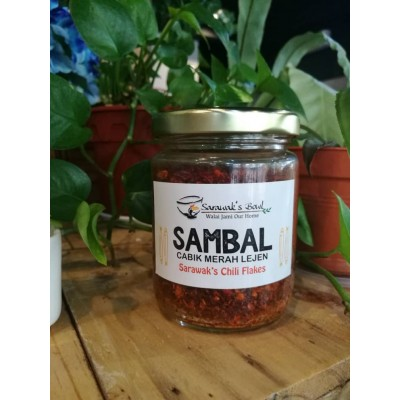 Sarawak Bowl Sambal Cabik Merah Lejen (Sarawak's Chili Flakes)
