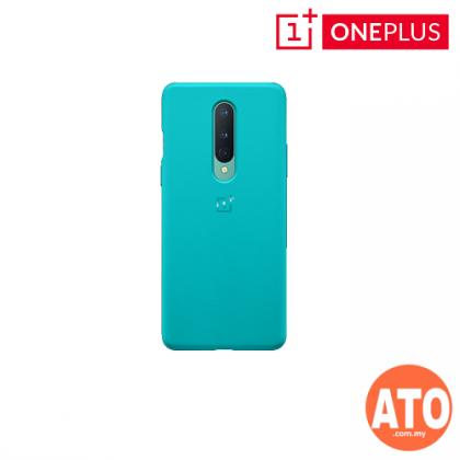OnePlus 8 Sandstone Bumper Case (Cyan)